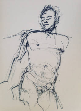 Male Gesture in Ink.