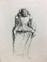 Seated Figure from Behind.