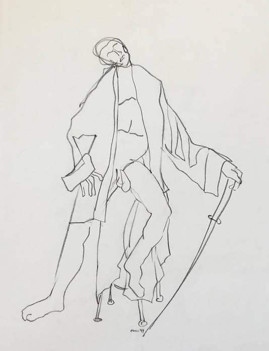 Man in Coat with Sword.