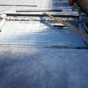 Sanierung Durchschreitebecken
