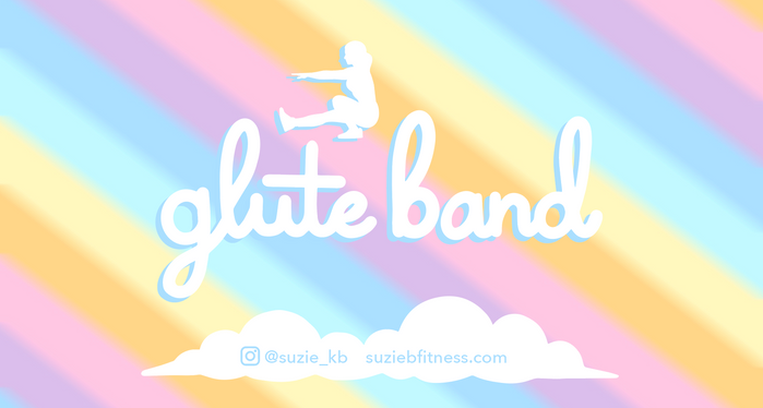 Pastel Rainbow Glute Band - Front
