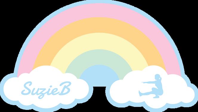 SuzieB Rainbow Sticker