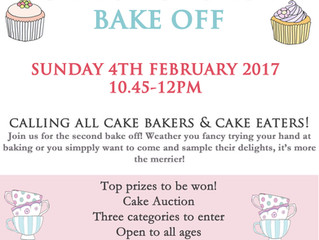 Christ Church Bake Off -- 4th February 2018