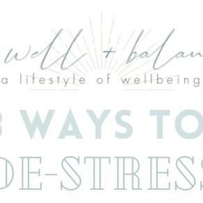 8 Ways to De-Stress [Infographic]