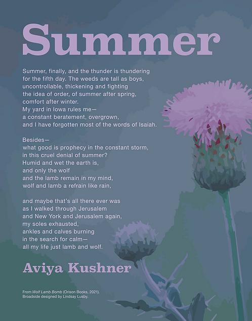 """Aviya Kushner Broadside - """"Summer"""""""