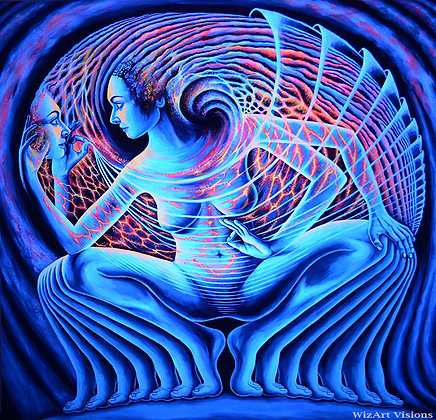 """Realization"", Original UV backdrop"