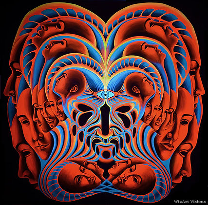 """The Shaman"", Original UV backdrop"