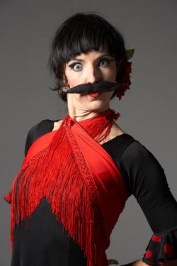 Amy G Flamenco Mustache La Soiree
