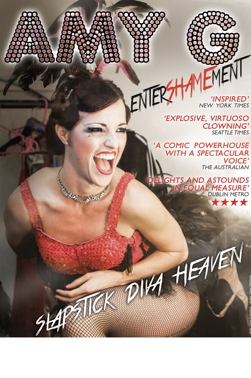 Amy G Entershamement poster showgirl