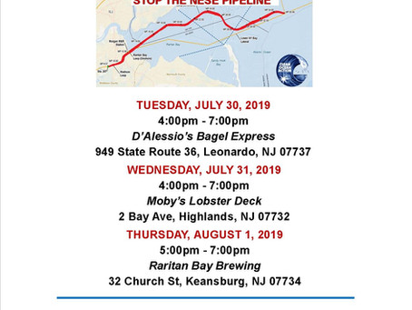 Raritan Bay Gas Pipeline August 2nd Deadline!