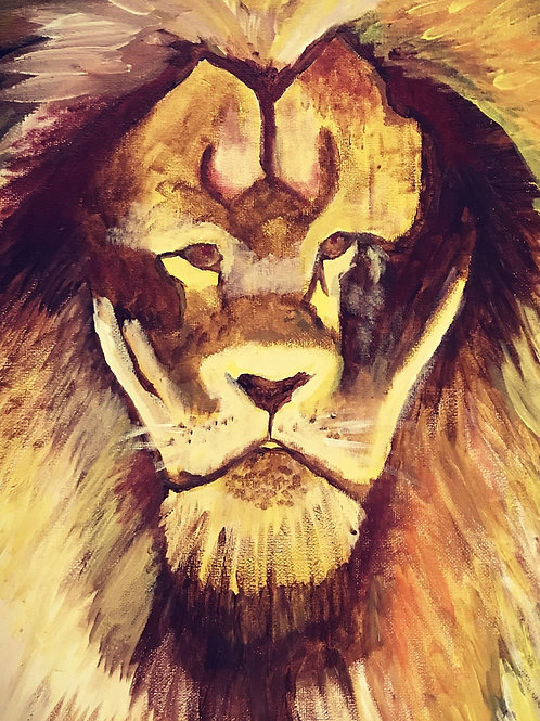 Solomon Lion Painting (Official Signed Print)