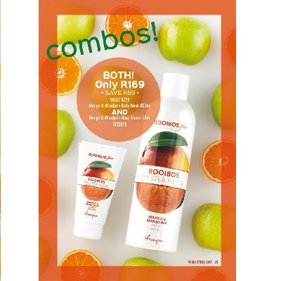 Mango & Mandarin Body Wash 400ml AND Mango & Mandarin Hand Cream 50ml