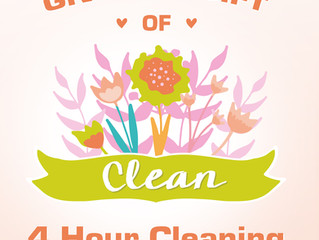Mother's Day Cleaning: 4 Hours for $145