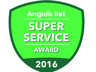 We are proud to announce we won the Angies List Service reward for 2016!