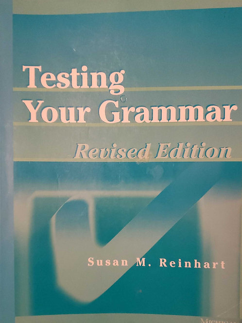 Testing Your Grammar / Susan