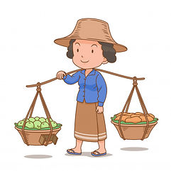cartoon-character-thai-woman-hawker-carr