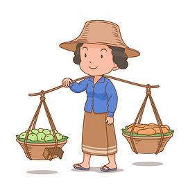cartoon-character-thai-woman-hawker-carr