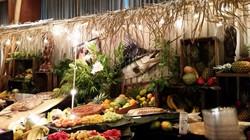 Hawaiian themed Fruit & Cheese Stati