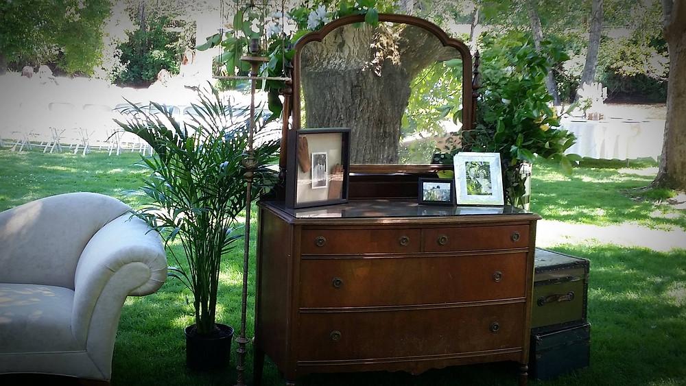 Vintage Dresser & accessories vignette