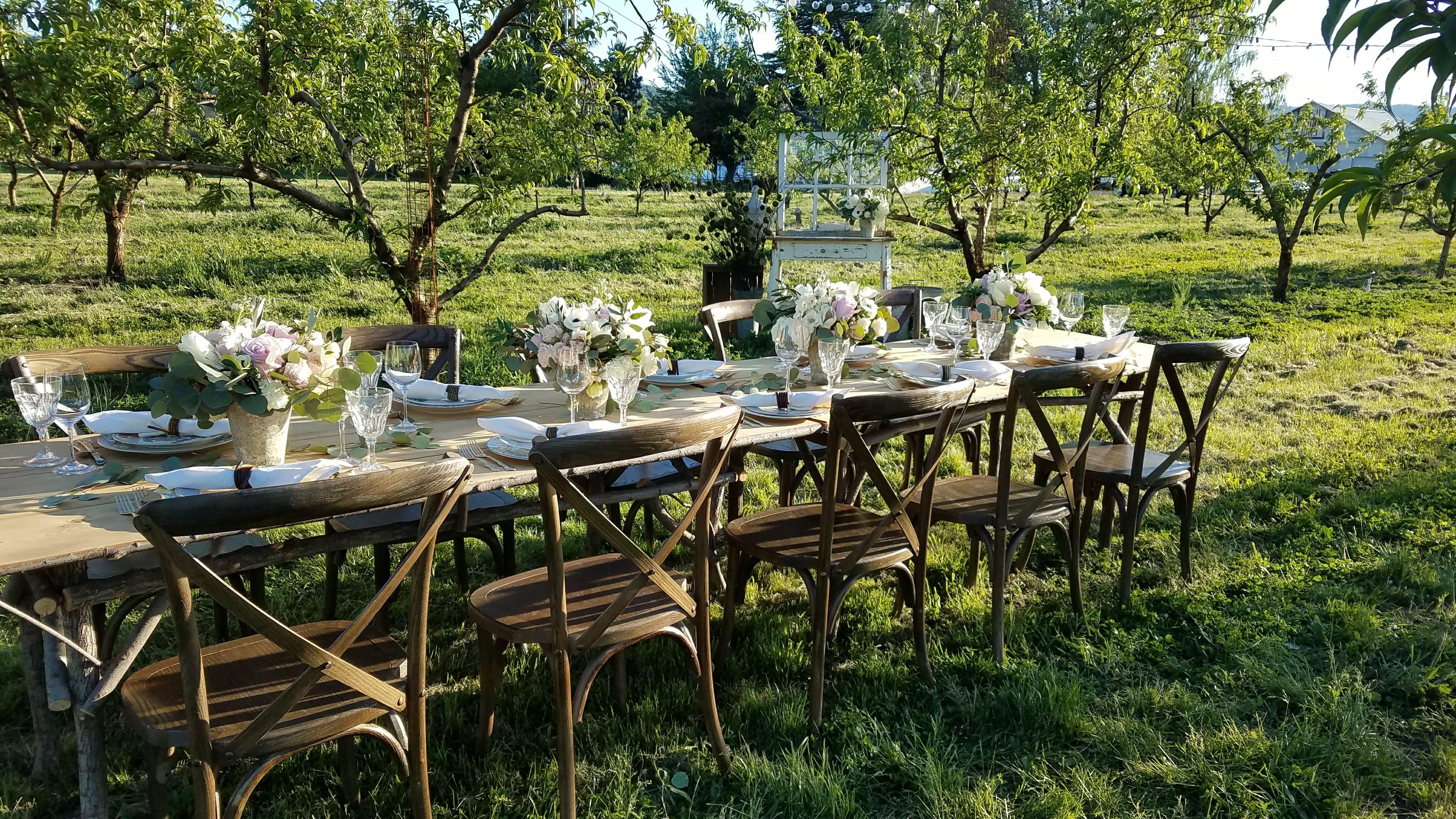 Vineyard Crossback Chair & Twig Tabl