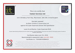 CERT012 Coolair Services Cyber Essential