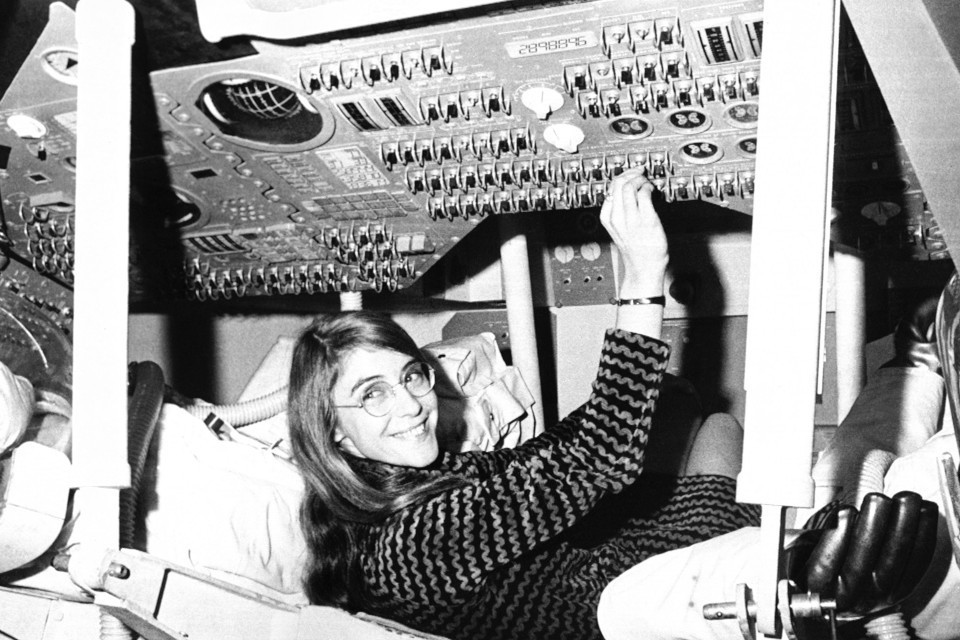 Margaret Hamilton, a programmer, in 1969. She oversaw the code that enabled the Eagle to land on the moon that year.
