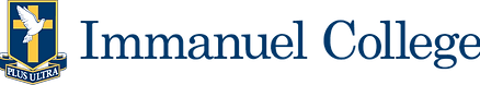 Immanuel College Logo (navy) Transparent