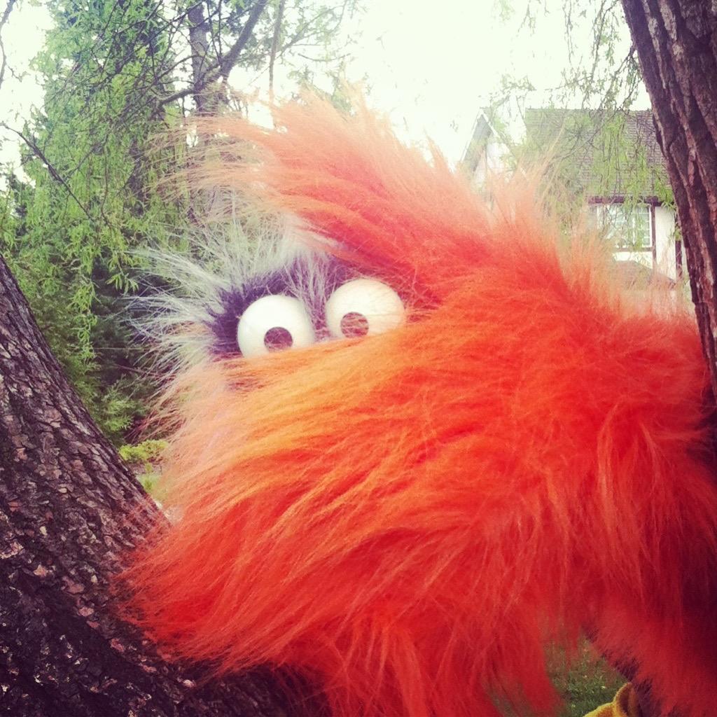 orange puppet
