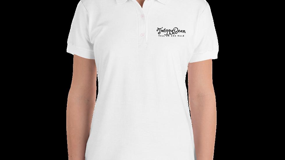 TwiggyBean Embroidered Women's Polo Shirt