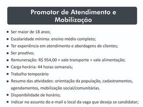 Seleção de promotor/mobilizador Boa Vista - RR