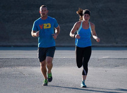 lizi and david running