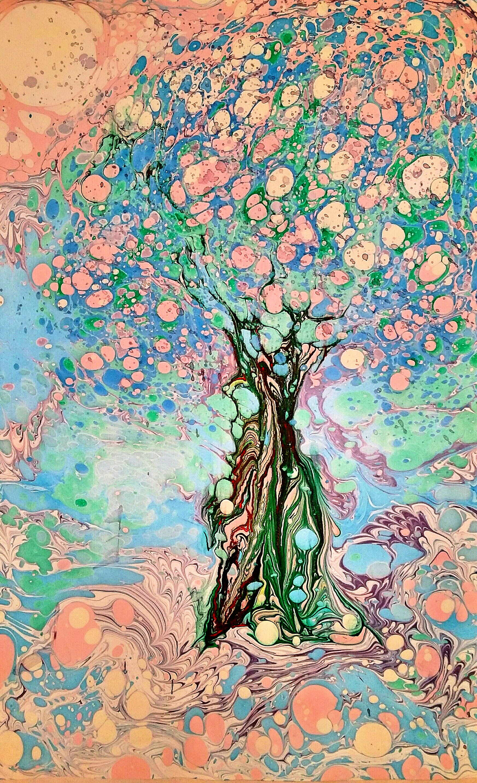 Эбру-дерево
