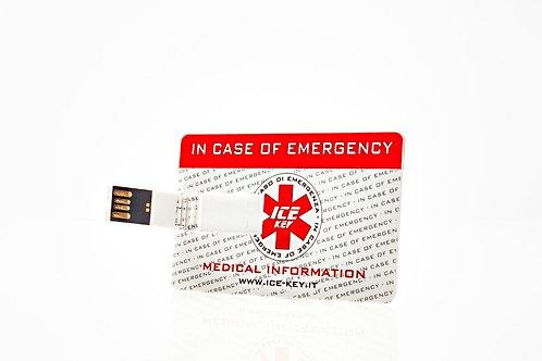 ICE-KEY card con USB e QR Code