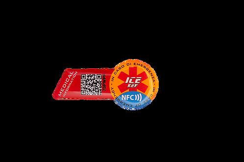 ICE-KEY TAG BIKE sfondo arancione fluo