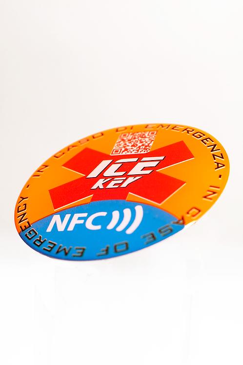 ICE-KEY TAG sfondo arancione fluo