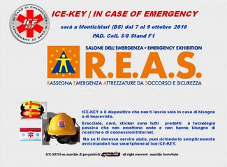 ICE-KEY al R.E.A.S. 2016                             7-9 ottobre a Montichiari (BS).