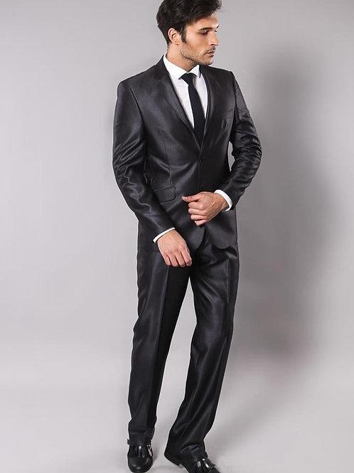 Shiny Smoked Men's Suit