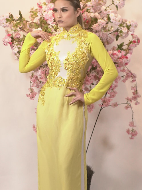 Gold Luck AO DAI