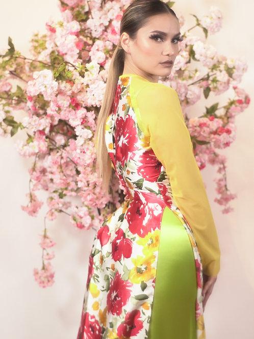 Yellow Floral Ao Dai
