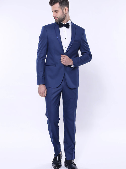 Lapel Modeled Navy Blue Tuxedo