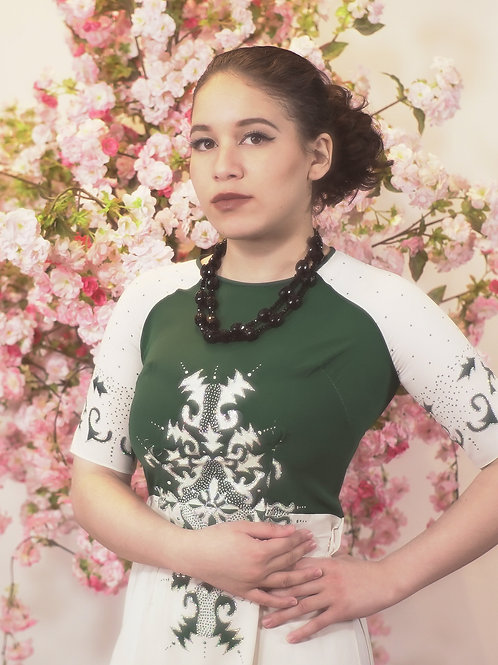 Green & White Ao Dai