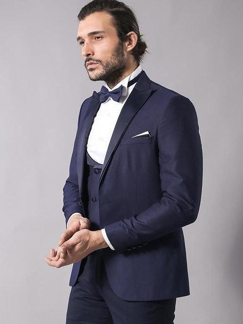 Navy Blue Vested Tuxedo