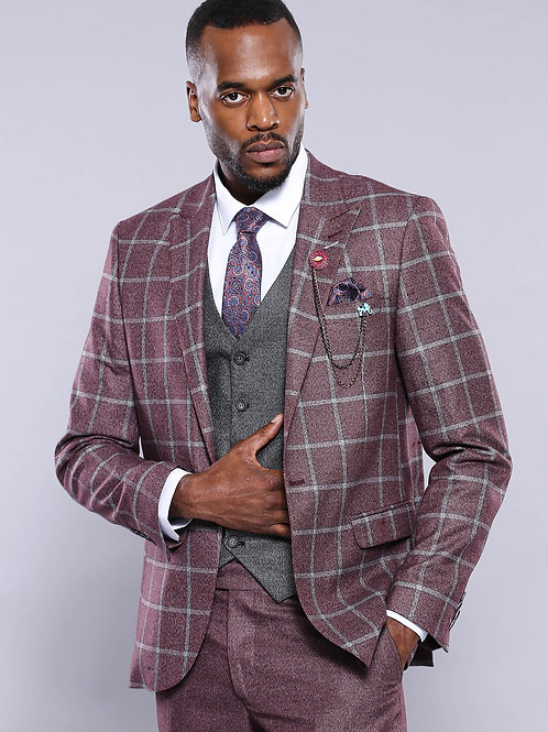Burgundy Combined Suit
