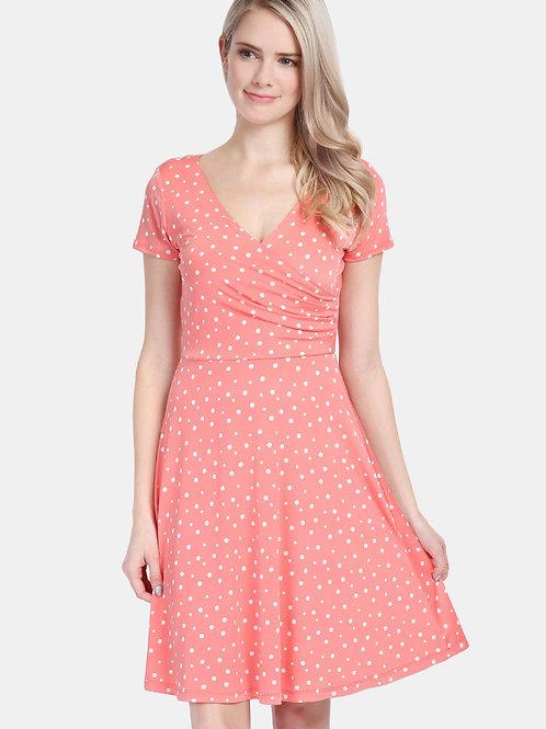 Short Sleeve Polka Dot Dress