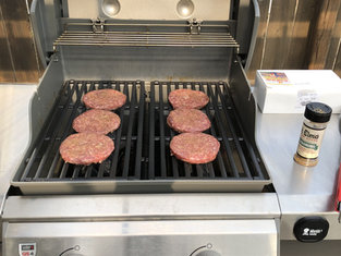 Special Blend Burgers on the Grill