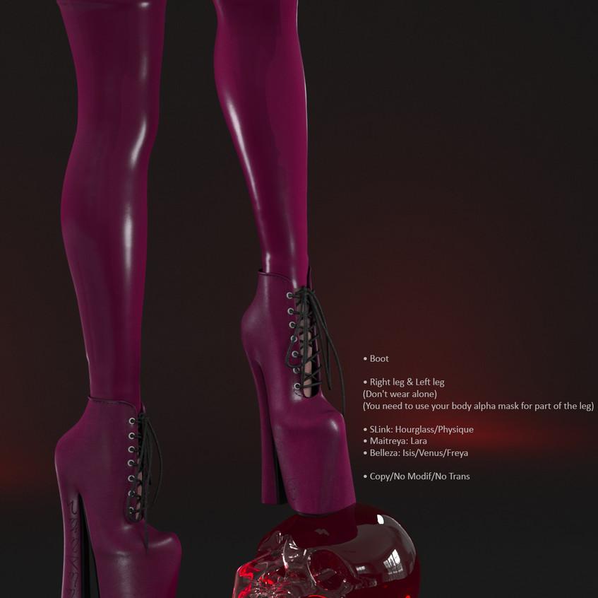 AZOURY - Salem Boot [Fuschia]