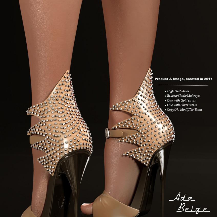 AZOURY - Ada High Heel Shoe [Beige]