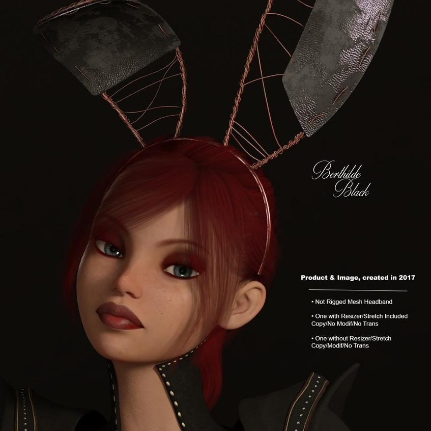 AZOURY - Berthilde Headband [Black]