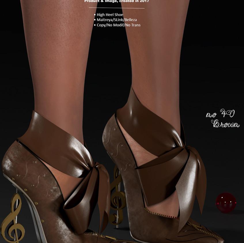 AZOURY - no 40 High Heel Shoe [Brown]