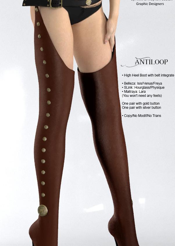 AZOURY - Antiloop leather [Chocolate]